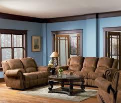 living room blue brown walls brown furniture blue walls brown furniture