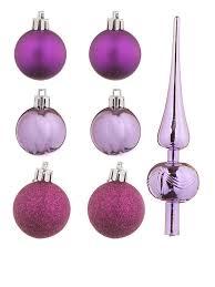 Украшение <b>Набор шаров с верхушкой</b> 47шт Purple Mix 81157G219