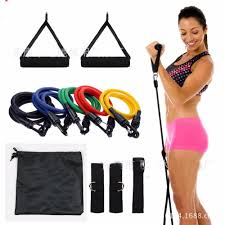 <b>11 Pcs</b>/<b>Set</b> Latex <b>Resistance Bands</b> Workout Exercise Pilates body ...