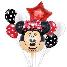 <b>8pcs</b> Minnie <b>Mickey</b> Mouse <b>foil</b> balloon baby shower party supplies ...