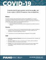 Promoting health equity, gender and <b>ethnic</b> equality, and human ...