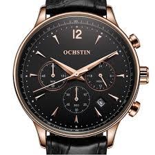 ochstin gq050a fashion <b>leather</b> strap <b>men quartz</b> watch luxury sub ...