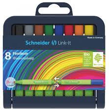 <b>Schneider</b> Набор <b>капиллярных ручек</b> Link-It, 0.4 мм, 8 шт. (191298 ...