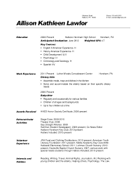 hostess resumes entry level dietary aide resume and hostess sample hostess resumes entry hostess resume objective