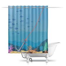 """Шторы в ванную """"Морское дно"""" #2512647 от BeliySlon - <b>Printio</b>"""