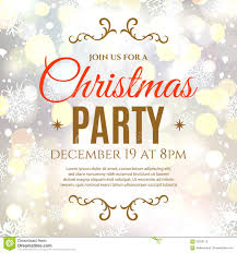 christmas party poster template stock vector image  christmas party poster template