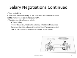 Job interview tips Must be negotiated ONLY after the job offer has been made 11Nermeen Ragab; 12. Salary Negotiations ...