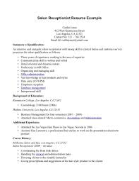 receptionist resume help sample resume for secretary receptionist resume samples my perfect resume