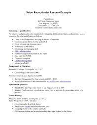receptionist resume help sample resume for secretary receptionist resume samples my perfect resume