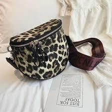 <b>Leopard Print Bucket</b> Leather Crossbody Bag For <b>Women</b> – Visinter