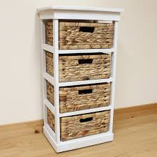 white storage unit wicker: white  basket chest home storage unit wicker drawers ebay