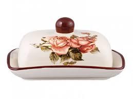 Масленка <b>корейская роза</b>, 17х12х8 см <b>lefard</b> 358-460