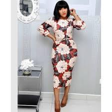 Women Printed Slim <b>Tight Fitting High</b> Waist Dress,White Generic ...