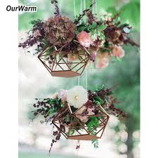 <b>OurWarm</b> Wedding <b>DIY Hanging</b> Flower Basket Wedding ...
