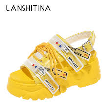 New <b>2019 Summer Women Sneakers</b> Gladiator Sandals Wedge ...