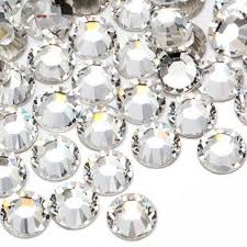 <b>100pcs</b> Grade A <b>Glass</b> Crystal Rhinestones <b>Nail</b> Art Super <b>Shine</b> ...