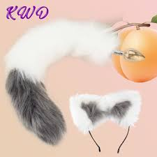 <b>Sexy Fox Metal Butt</b> Plug Tail Set With Hairpin Fox Tail Anal Plug In ...