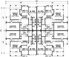 Traditional Multi Family Plan   Full Bath  Half Baths and    Traditional Multi Family Plan   Full Bath  Half Baths and Numbers