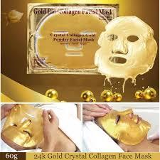 <b>10Pcs</b>/Lot 24K Gold Collagen Mask <b>Gold Crystal</b> Collagen Powder ...