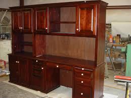 outstanding big computer desk design with brown oak wooden computer desk along small cabinet and storage big office desks