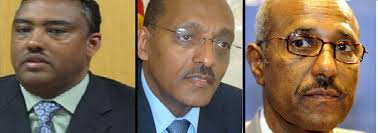 from left to right Demeke Mekonnen, Girma Biru and Siyoum Mesfin - D.Premiers
