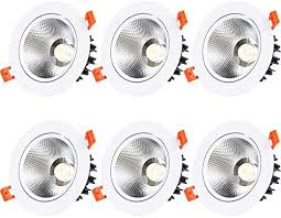 MCTECH <b>3W</b> LED Recessed Ceiling Light <b>LED Downlight</b> Pack of ...