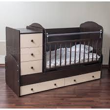 Детская <b>кроватка</b>-<b>трансформер</b> Агат <b>Папа Карло</b> 1/2 купить в ...