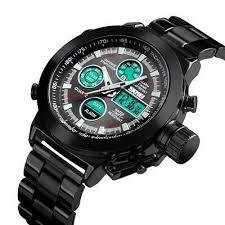 @! <b>SKMEI Men</b> Luxury <b>Quartz Digital</b> Luminous Waterproof Analog ...
