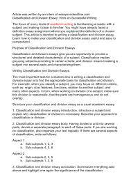 sample classification essay   reportzwebfccom sample classification essay