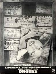 "THE <b>DRONES</b> ""<b>Further Temptations</b>"" 1977 Valer Records promo ..."