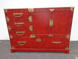 vintage century furniture asian inspired chinoiserie cabinet chest console brass table chinese carved wood campaign style asian inspired furniture