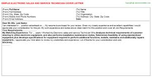 Cover Letter For Technician Electronic   Cover Letter Templates