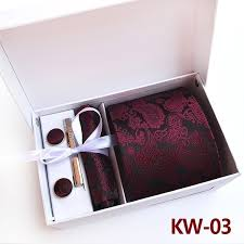 <b>Luxury</b> 8cm Paisley silk <b>Mens jacquard</b> Tie Set Cufflinks Tie and ...