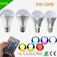 5W/<b>20W E27</b> B22 <b>RGB</b> Color Changing <b>LED</b> Bulb Spot Flood Light ...