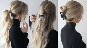 HOW TO: EASY HAIRSTYLES w/claw <b>clips</b> | Claw <b>clip</b> hairstyles ...