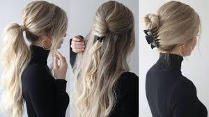 HOW TO: <b>EASY HAIRSTYLES</b> w/<b>claw clips</b> | <b>Claw clip hairstyles</b> ...