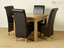 extendable dining table set: square oak extending dining table set with   chairs home oak