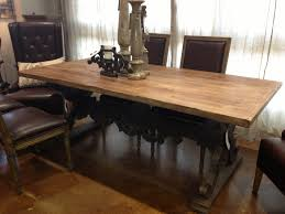 chair dining room tables rustic chairs:  rustic leather dining room chairs design wrought iron candle holder table centrepiece idea in rustic dining