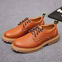 <b>Men's</b> Work <b>Shoes PU</b> Leather Casual Lace Up Soft Outsole Flats ...