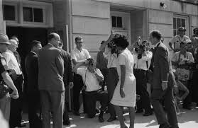 racism african american university student vivian malone entering the university of alabama in the u s to register for classes as one of the first non white