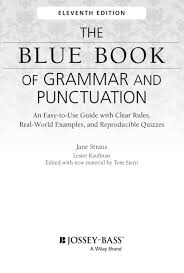 title page the blue book of grammar and punctuation an easy to title page
