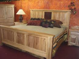 diy cream polished wooden king size bed for rustic bedroom combined with white shade table lamp bedroom furniture diy