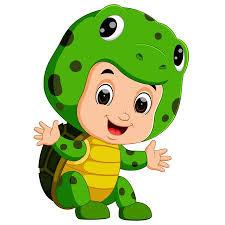 <b>Cute Kids</b> Cartoon Wearing <b>Turtle Costume</b> Stock Photo, Picture ...