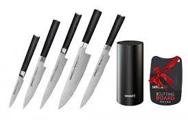 Купить <b>Набор</b> из 5 <b>ножей</b> и подставки <b>Samura Mo</b>-<b>V</b> (10, 21, 23 ...