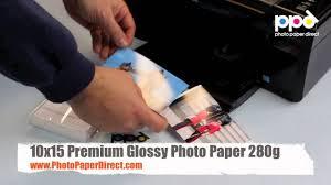 10x15 <b>Premium Glossy Photo Paper</b> 280g - YouTube
