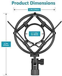 Neewer Black <b>Universal Microphone Shock Mount</b> Holder Clip Anti ...