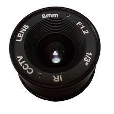 """<b>HOT SALE</b> F1.2 8mm 1/3"""" <b>CS</b> Mount Fixed IR CCTV Camera Lens ..."""