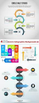 Векторный клипарт - <b>Arrows</b> Infographics Backgrounds 55 ...