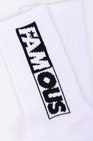<b>Носки FAMOUS Famous</b> Lettering Socks Double Pack White купить ...