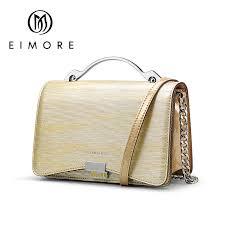 EIMORE Designer Women Handbags <b>Genuine Leather Shoulder</b> ...